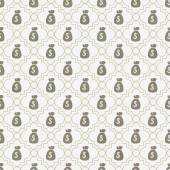Brown and White Money Bag Repeat Pattern Background — Stock Photo