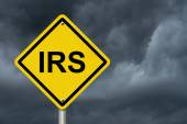 IRS Warning Sign — Stock Photo