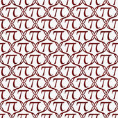 Red and White Pi Symbol Repeat Pattern Background — Stock Photo
