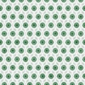 Green and White Flower Repeat Pattern Background — Stock Photo
