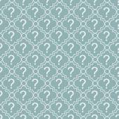 Teal and White Question Mark Symbol Pattern Repeat Background — Stock Photo