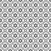 Black and White Star of David Repeat Pattern Background — Stock Photo