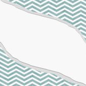 Teal and White Chevron Frame with Torn Background — Stock Photo