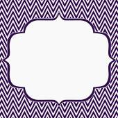 Purple and White Chevron Zigzag Frame Background — Stock Photo