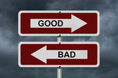 Good versus Bad — Stock Photo
