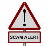 Scam Alert Caution Sign — Stock Photo