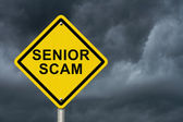 Senior Scam Warning Sign — Stock Photo