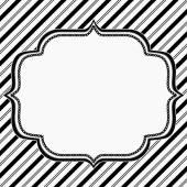 刺繍入り黒と白の縞模様の背景 — ストック写真