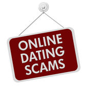 Online Dating Scam Sign — Foto de Stock