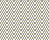 Brown and White Zigzag Textured Fabric Repeat Pattern Background — Stock Photo