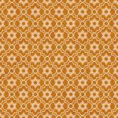 Orange and White Star of David Repeat Pattern Background — Stock Photo