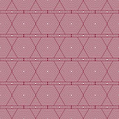Red and White Hexagon Tiles Pattern Repeat Background — Stock Photo