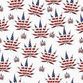 Marijuana in the USA Leaf Pattern Repeat Background — Foto Stock