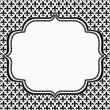 Black and White Fleur De Lis Pattern Textured Fabric with Embroi — Stock Photo #55580241