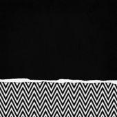 Square Black and White Zigzag Chevron Torn Grunge Textured Backg — Stock Photo