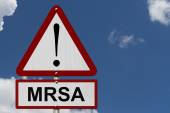 MRSA Caution Sign — Stock Photo