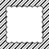 Black and White Striped Background with Embroidery — Stock Photo