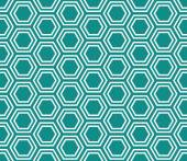 Teal and White Hexagon Tiles Pattern Repeat Background — Stock Photo