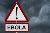 Ebola Caution Sign — Stock Photo