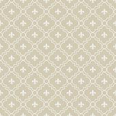 Beige and White Fleur-De-Lis Pattern Textured Fabric Background — Stockfoto