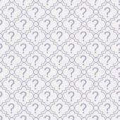 Purple and White Question Mark Symbol Pattern Repeat Background — Stock Photo