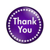 Thank you button — Stock Photo