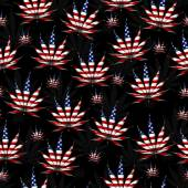 Marijuana in the USA Leaf Pattern Repeat Background — Stock Photo