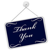 Thank You Sign — Stock Photo