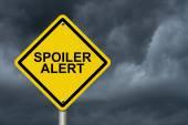 Spoiler Alert Warning Sign — Stock Photo