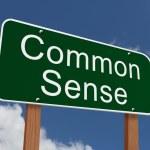 Common Sense Sign — Stock Photo #58522515