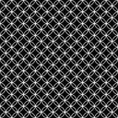 Black and White Interlocking Circles Tiles Pattern Repeat Backgr — Foto Stock