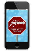 Warning of Distracted Driving — Fotografia Stock