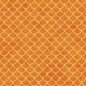 Orange and White Shell Tiles Pattern Repeat Background — Stock Photo