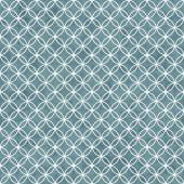 Blue and White Interlocking Circles Tiles Pattern Repeat Backgro — Foto Stock