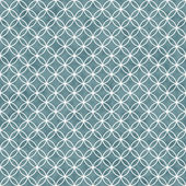 Blue and White Interlocking Circles Tiles Pattern Repeat Backgro — Stock Photo
