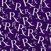 Purple and White Prescription symbol Pattern Repeat Background — Stock Photo