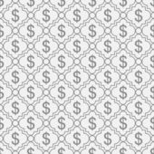 Gray and White Dollar Sign Pattern Repeat Background — Stock Photo