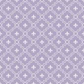 White and Purple Fleur-De-Lis Pattern Textured Fabric Background — Stock Photo