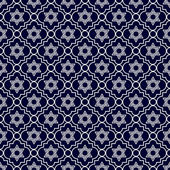 Navy Blue and White Star of David Repeat Pattern Background — Stock Photo