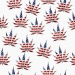 Marijuana in the USA Leaf Pattern Repeat Background — Stock Photo #58907791
