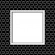 Black and White Line and Zigzag Patterned Background with Frame — Stock Photo #58907871