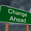 Change Ahead Sign — Stock Photo #58907897