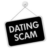 Dating Scam Sign — Stock Photo