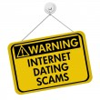 Warning of Internet Dating Scams Sign — Stock Photo #59098885