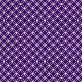 Purple and White Interlocking Circles Tiles Pattern Repeat Backg — Foto Stock