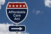 Affordable Care Act Sign — Stock Photo