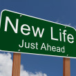 New Life Just Ahead Sign — Stock Photo #59210447