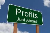Profits Just Ahead Sign — Foto de Stock