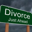 Divorce Just Ahead Sign — Stock Photo #59448115