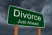 Divorce Just Ahead Sign — Stock Photo